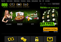 888 casino online homepage screenshot