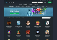 BetVictor online casino homepage screenshot