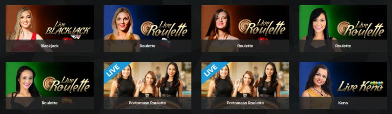 Live dealer games at Darkslot casino