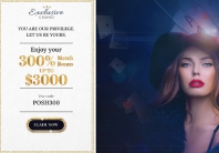 Big welcome bonus at Exclusive Casino