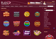 many casino games at Ruby Fortune