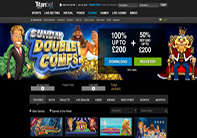 titan online casino homepage screenshot